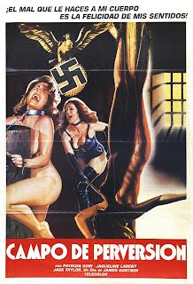 affiche espagnole, NATHALIE RESCAPEE DE L'ENFER, nazisploitation, Nathalie fugitive from hell, Campo de perversion