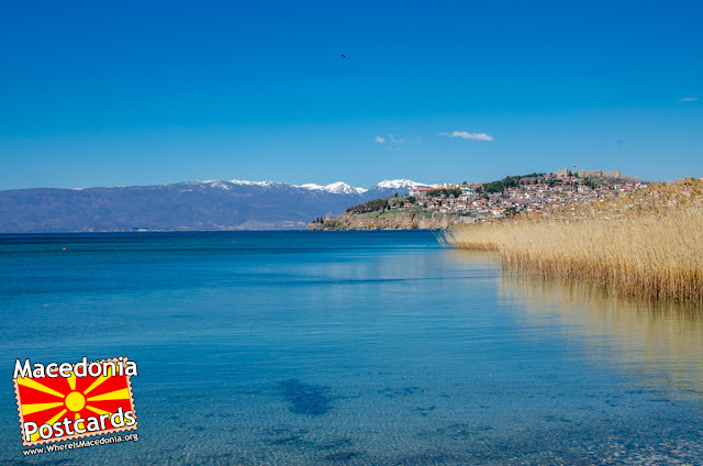 View toward old part of Ohrid city, Macedonia