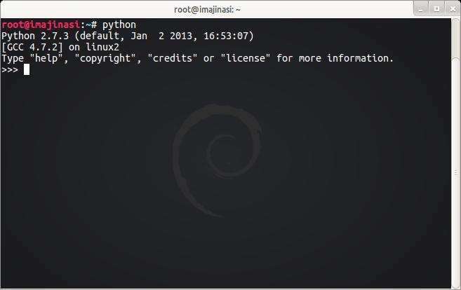 Mode Interaktif Python