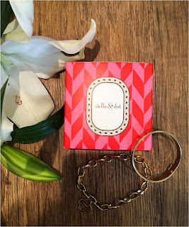 My Midlife Fashion, Stella & Dot, Stella and Dot Inspiration Bangle Love, Stella & Dot Link Charm Bracelet