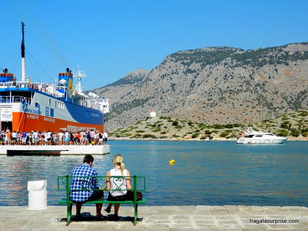 Panagiá Skiadeni, barco que me levou de Rodes ao Mosteiro de Panormiti