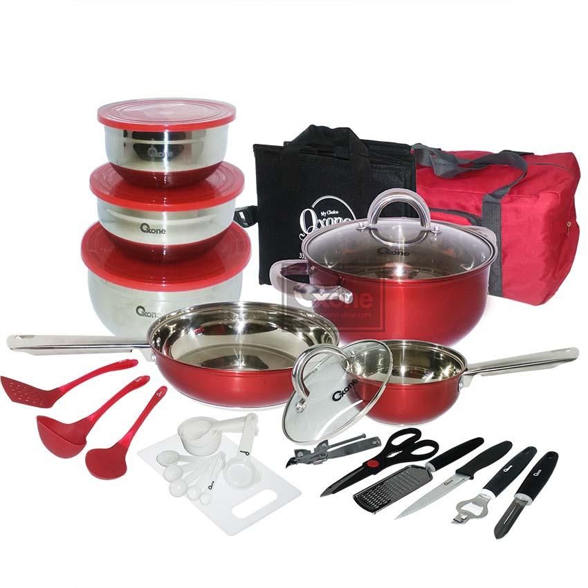 OX-993 33Pcs Panci Oxone Travel Cookware Set