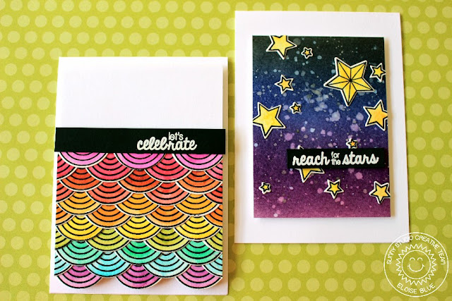 Sunny Studio Stamps: Everyday Stars & Stripes Encouragement and Celebration Cards by Eloise Blue.