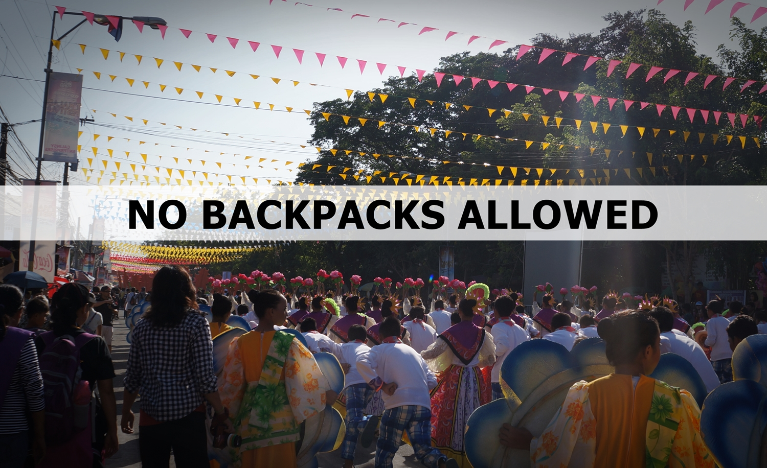 """No Backpacks Allowed"" this Tnalak Festival"