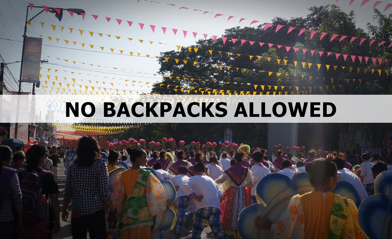 """No Backpacks Allowed"" this Tnalak Festival"