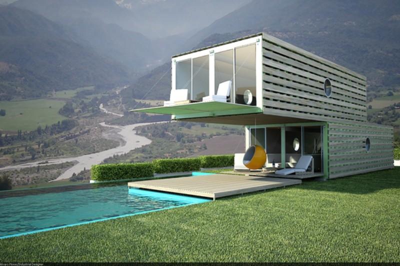 casas contenedores casa container de infiniski. Black Bedroom Furniture Sets. Home Design Ideas