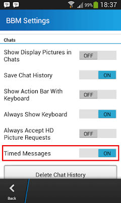 Cara Menghapus Timer / Setelan Waktu Pesan BBM di Android