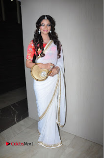 Actress Shilpi Sharma Pictures in White Saree at Kotikokkadu Audio Launch 0163