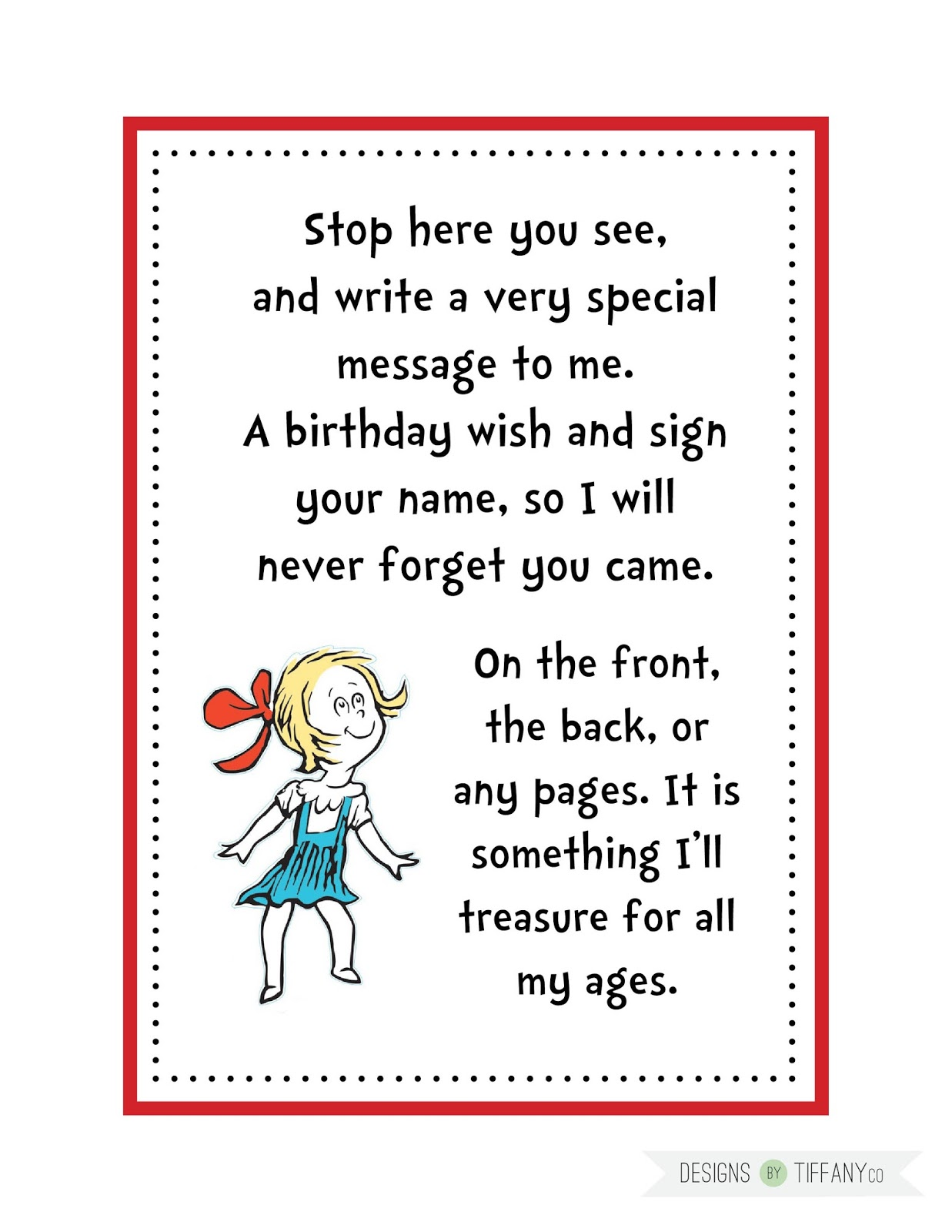 Client Work Dr Seuss Birthday Party Package Designs By