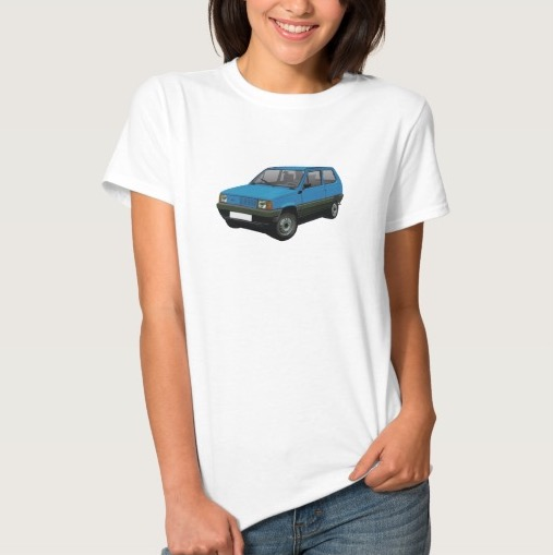 Blue Fiat Panda t-shirt