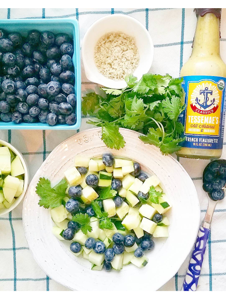 Blueberry & Cucumber French Vinaigrette Salad! #TasteWhatMatters #SavorSummer