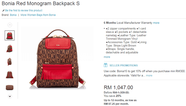 Bonia backpack