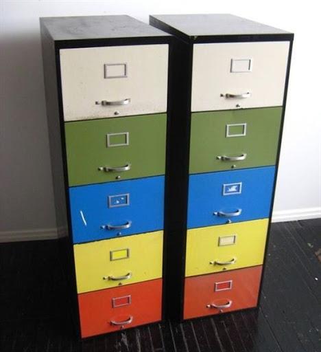 colorful file cabinets