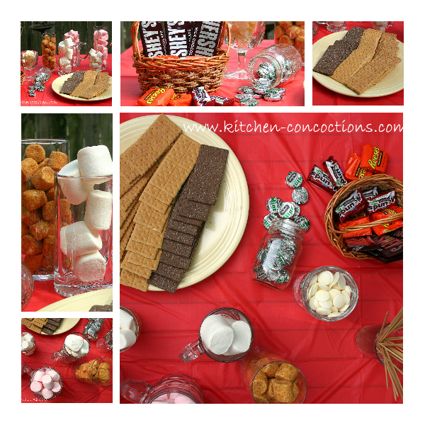 Now For The DIY Smores Bar This Was So Much Fun And Enjoyed By All Of My Guests Could Not Believe Selection Chocolate