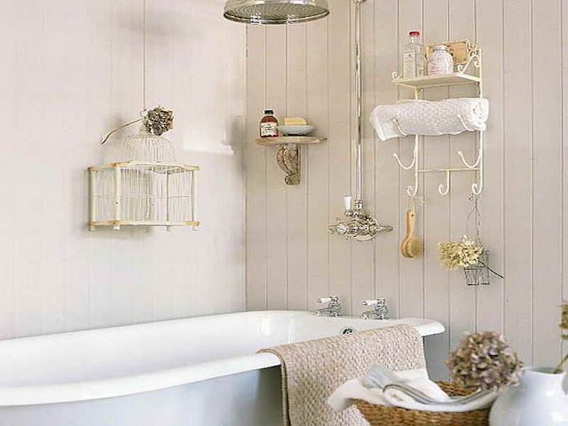 Stylish white bathroom sets Stylish white bathroom sets Simplicity is the key in this cool shabby chic bathroom