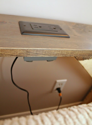 built in tabletop outlet