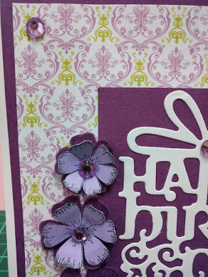 puple paper flowers
