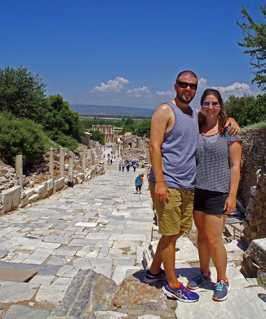 Couple at Ephesus Turkey