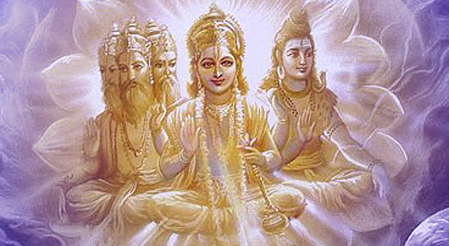 Lord Bramha Vishnu & Mahesh Trimurti HD Wallpaper