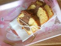 Βουτυρένιο κέικ μαρμπρέ με σταγόνες σοκολάτας - by https://syntages-faghtwn.blogspot.gr