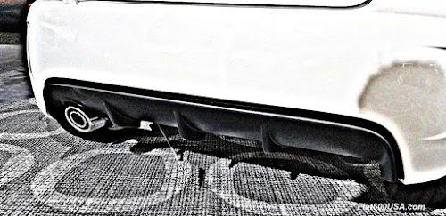 2018 Fiat 500 rear diffuser