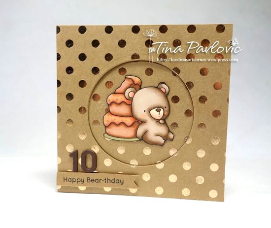 Birdie Brown Beary Special Birthday stamp set - Tina Pavlovic #mftstamps
