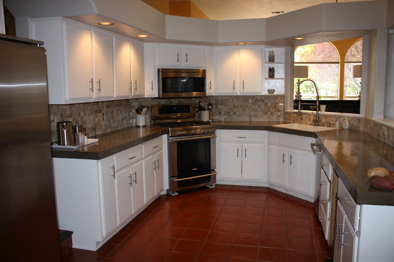 Concrete Kitchen Countertops How Much Does A Cabinet Cost Quick Install Of Remodel