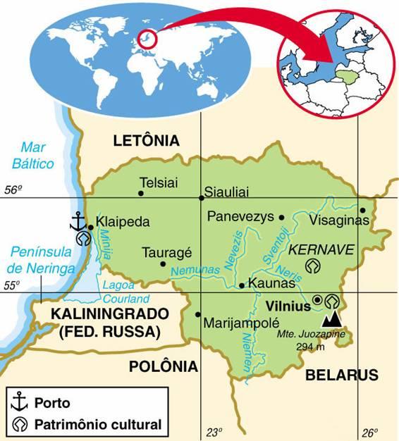 LITUÂNIA, ASPECTOS GEOGRÁFICOS E SOCIOECONÔMICOS DA LITUÂNIA
