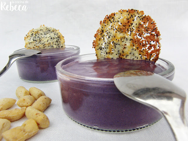 Parmentier de patata morada