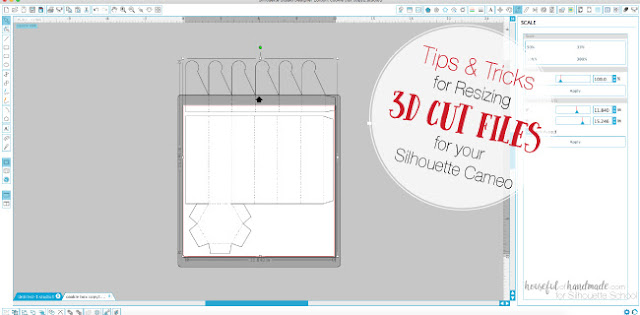 3D silhouette studio files, resizing silhouette studio cut files, 3d paper crafts, 3d shapes silhouette cameo