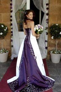 84600baff8d The Dream Wedding Inspirations  Stylish Purple Wedding Dress
