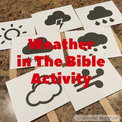 Weather In The Bible student response cards | scriptureand.blogspot.com
