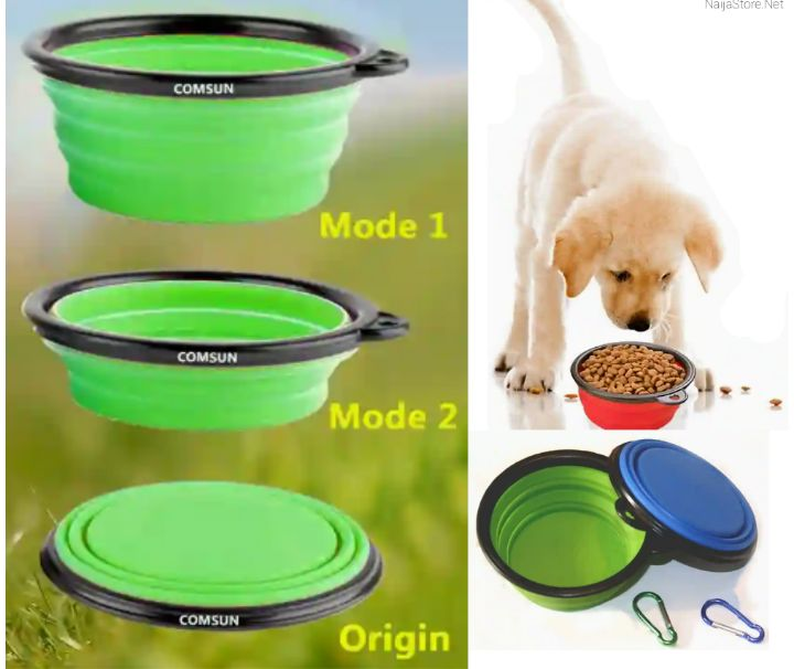 Comsun Pet Bowls: Collapsible Food Container for Dogs