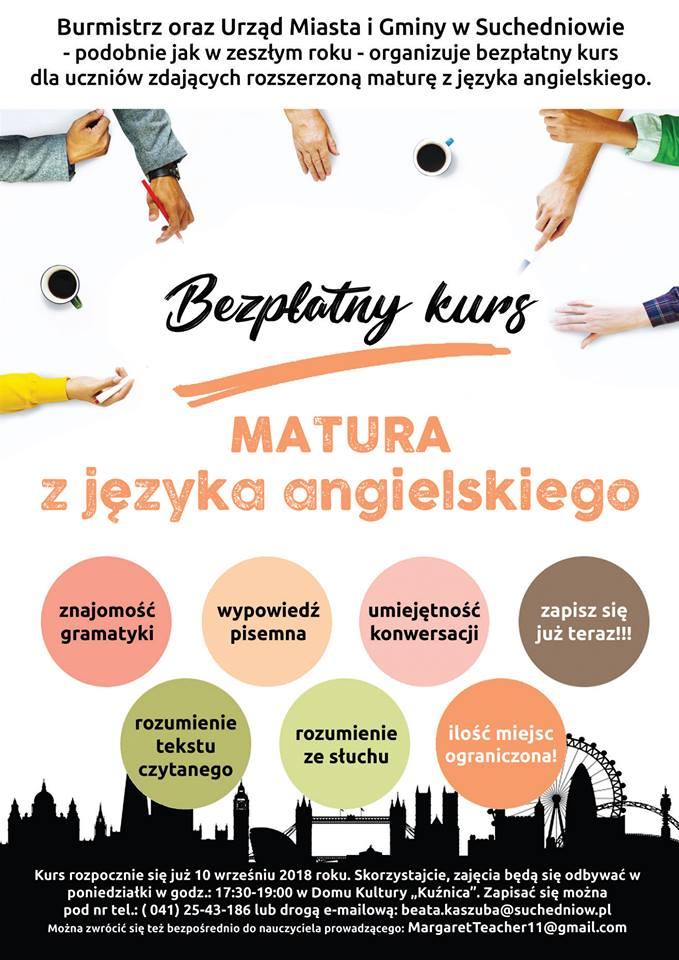Nasz Suchedniów Zaproszenie Na Kurs Z Języka Angielskiego