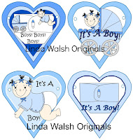 It's Raining Baby Shower E-Printable Buntings