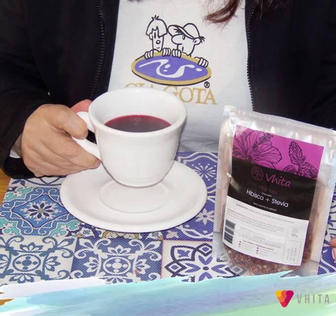 Chá Hibisco com Stevia da Vhita