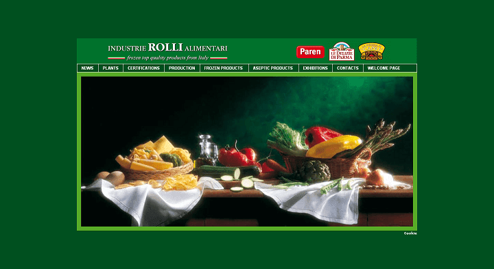 Picture to Italian food exporter company named Industrie Rolli
