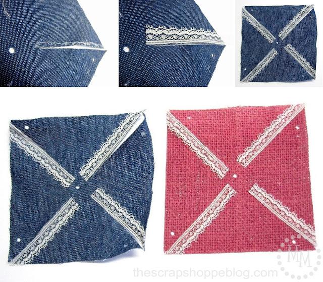 lace on Patriotic Pinwheels