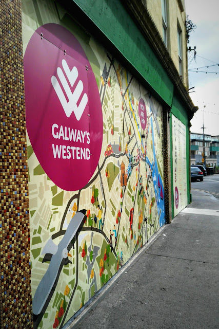 Galways West end Map on a wall