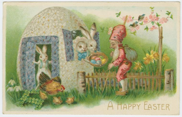 Feathers and flowers old fashioned easter greetings old fashioned easter greetings m4hsunfo