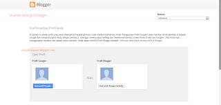Gambar halaman saat memilih profil untuk ditampilkan di blog kita