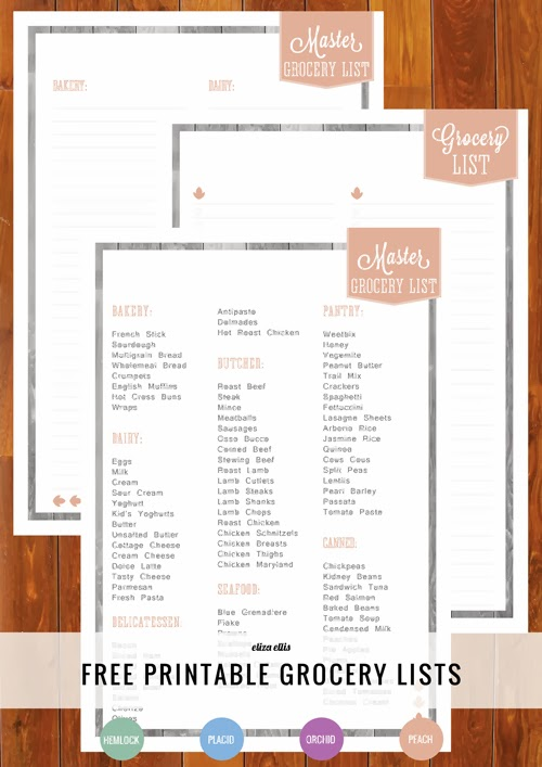 Free Printable Home Planner: Grocery Lists #marvelousmondays #394