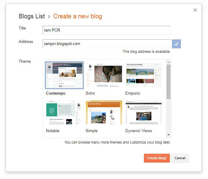 Nama dan URL Blog