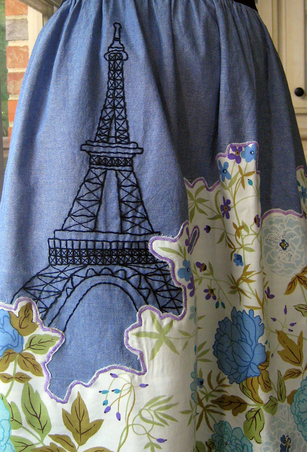 Cassie Stephens Eiffel Tower Embroidery