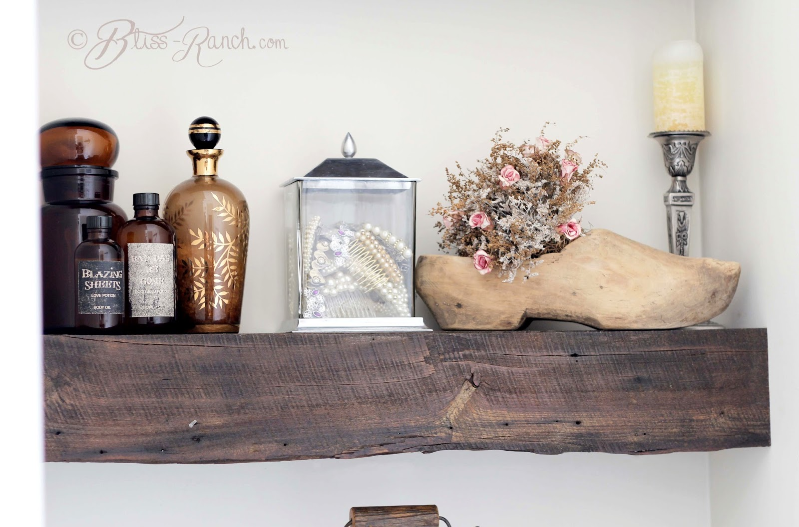 From My Front Porch To Yours- How I Found my Style Sundays-100 year old barn wood shelves, Bliss-Ranch.com