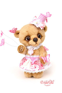 Artist teddy bear, handmade bear, ooak bear, bear girl, NatalKa Creations, teddies with charm, artist bear, Künstlerteddy, Teddybär, Künstlerbär