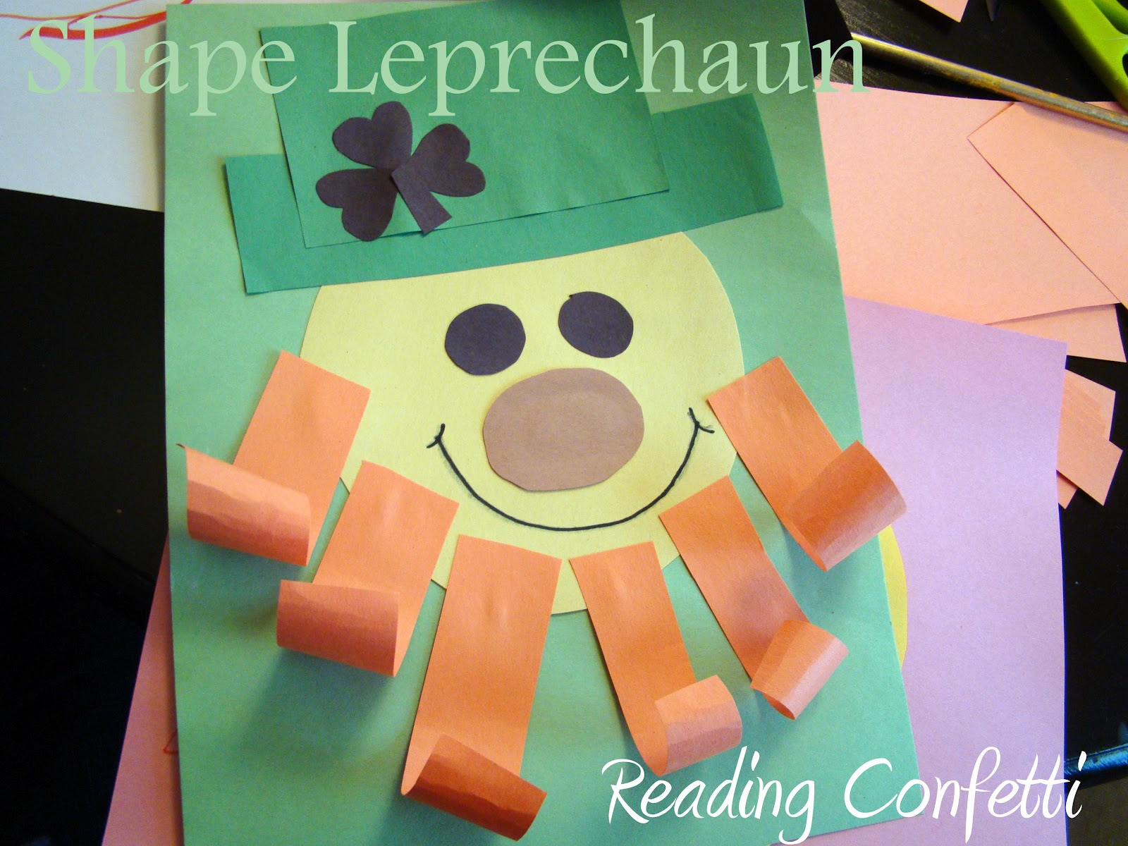 Shape Leprechauns Reading Confetti