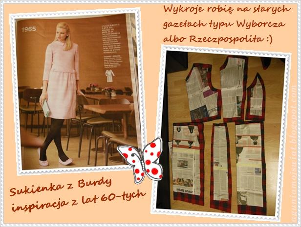 Sukienka z patką Burda 01/2013
