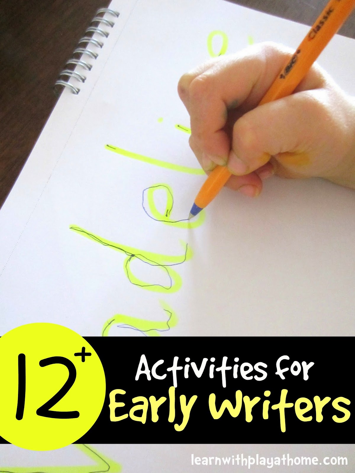 Learn With Play At Home Learn To Write 12 Activities