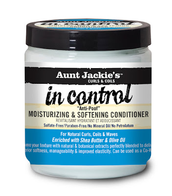 Aunt Jackie's Curls and Coils In Control Anti-Poof Moinsturizing and Softening Conditioner 15oz.